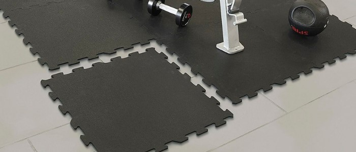 rubber interlocking gym florr tiles