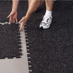 home gym flooring is easy to install